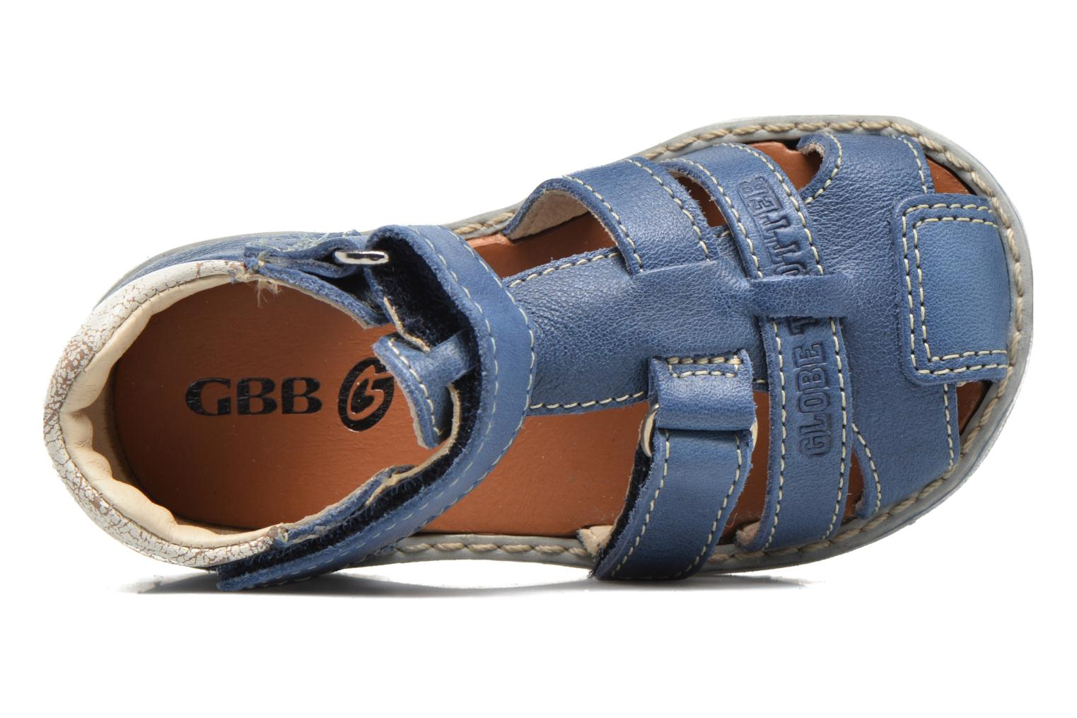 Sandals GBB Mathurin Blue view from the left