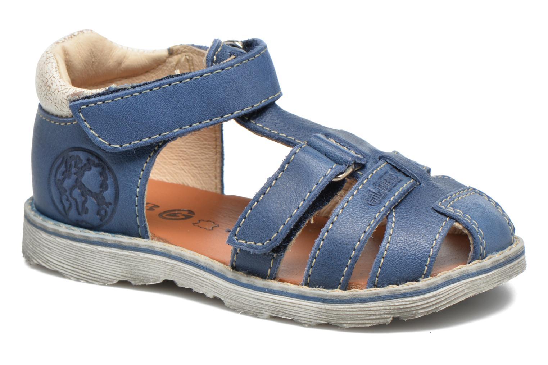 Sandals GBB Mathurin Blue detailed view/ Pair view