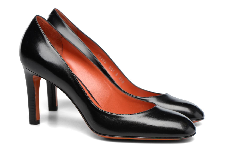 Escarpins Santoni Moss 53254 Noir vue portées chaussures