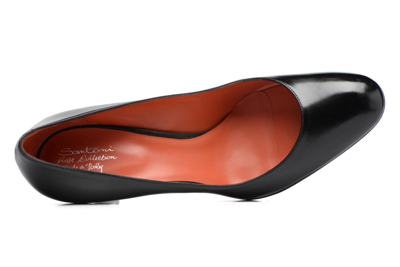 Escarpins Santoni Moss 53254 Noir vue haut