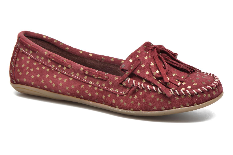 Mocassins Ippon Vintage Moc Star Bordeaux vue détail/paire