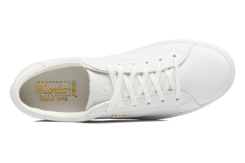 Baskets Keds Ace Leather Blanc vue gauche