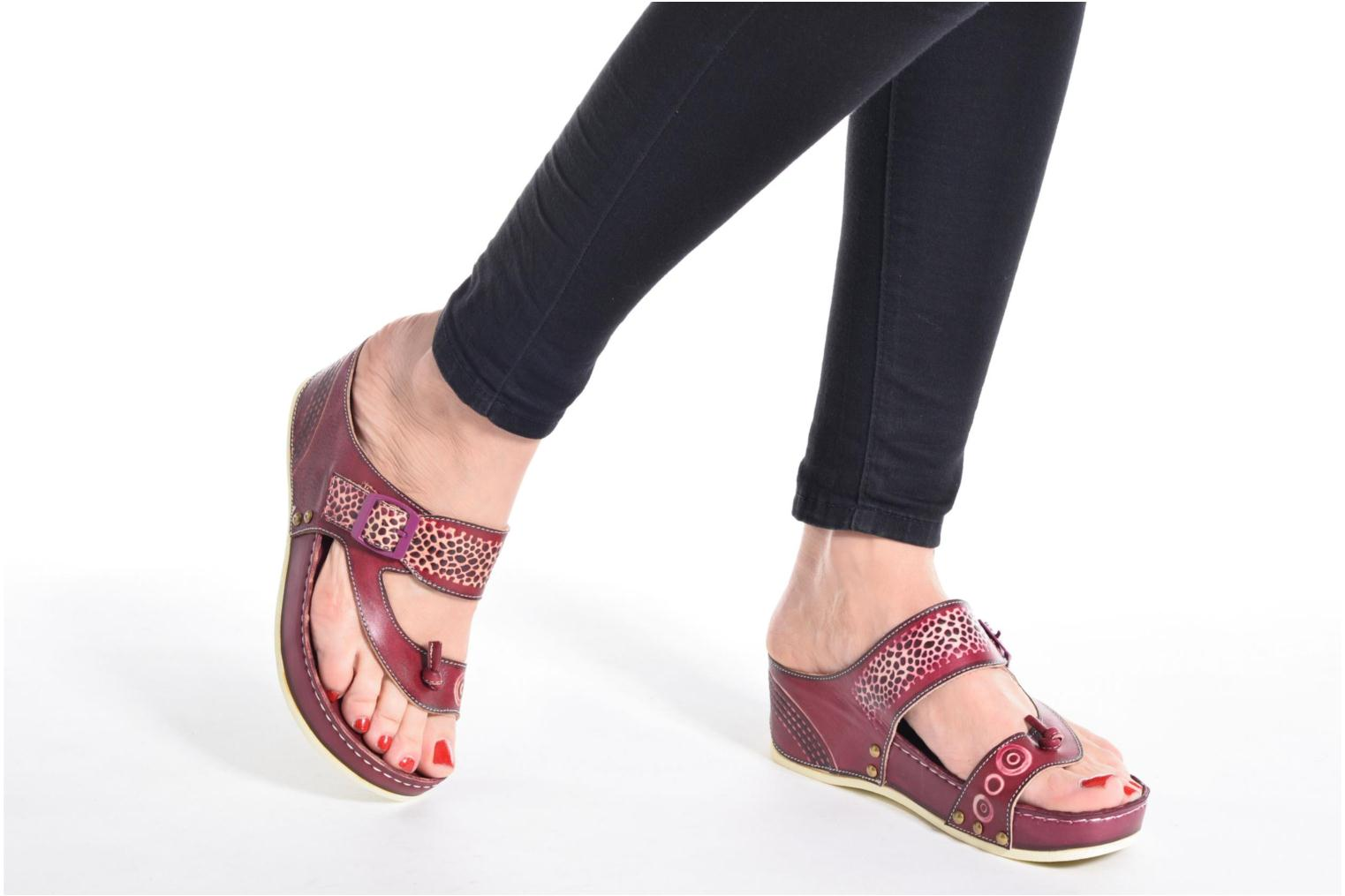 Mules & clogs Laura Vita Scenic Yellow view from underneath / model view