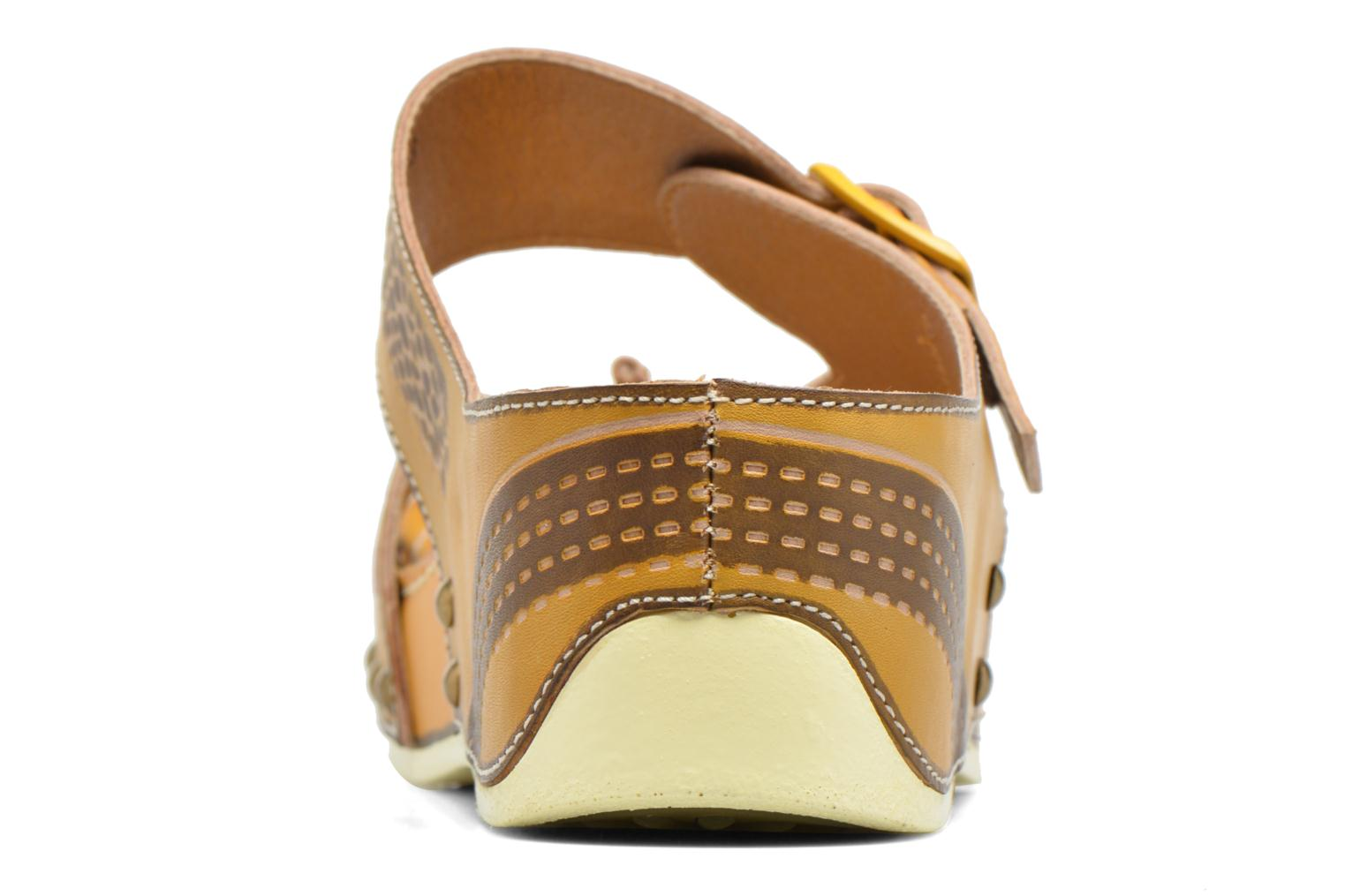 Mules & clogs Laura Vita Scenic Yellow view from the right