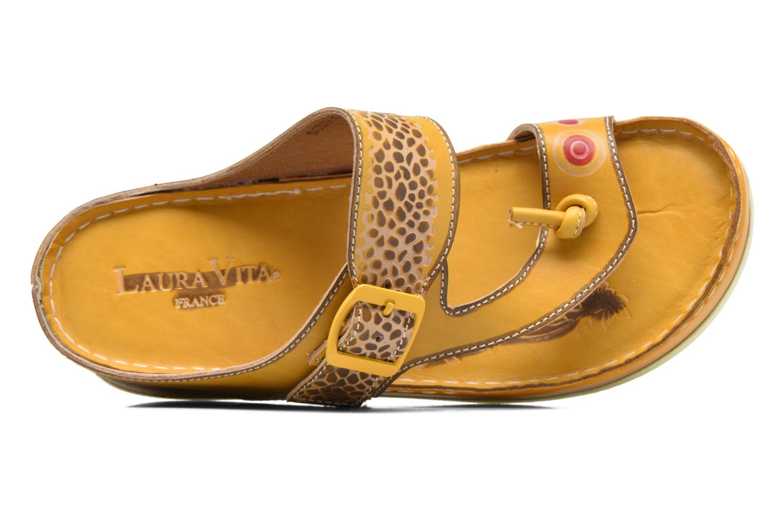 Mules & clogs Laura Vita Scenic Yellow view from the left