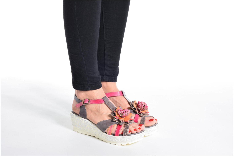 Sandales et nu-pieds Laura Vita Siecle Orange vue bas / vue portée sac