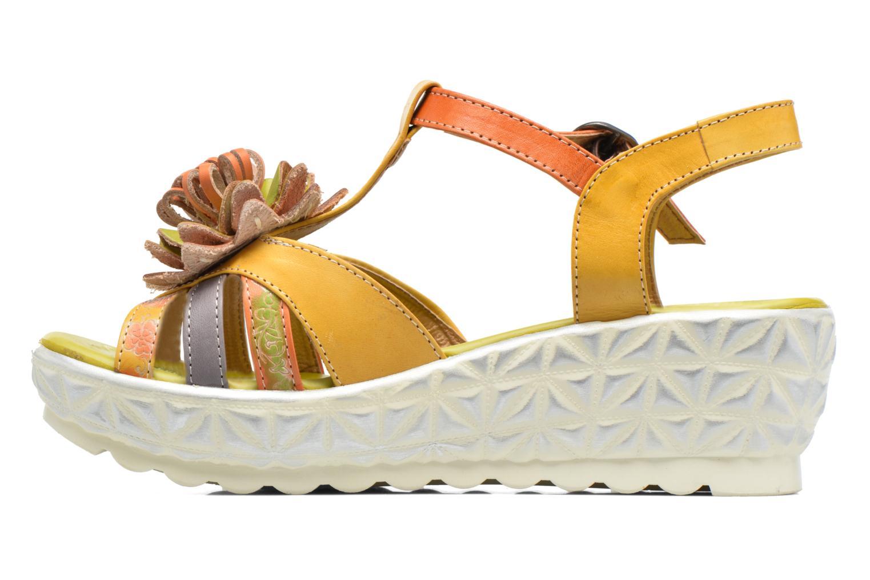 Sandales et nu-pieds Laura Vita Siecle Orange vue face