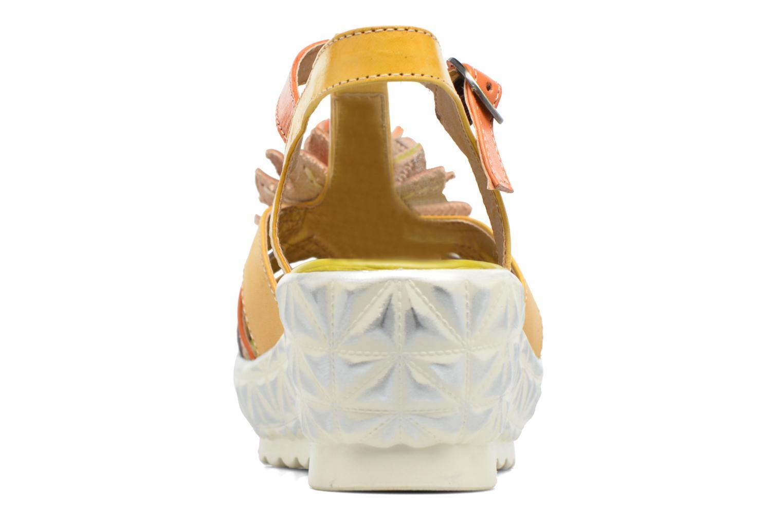 Sandales et nu-pieds Laura Vita Siecle Orange vue droite