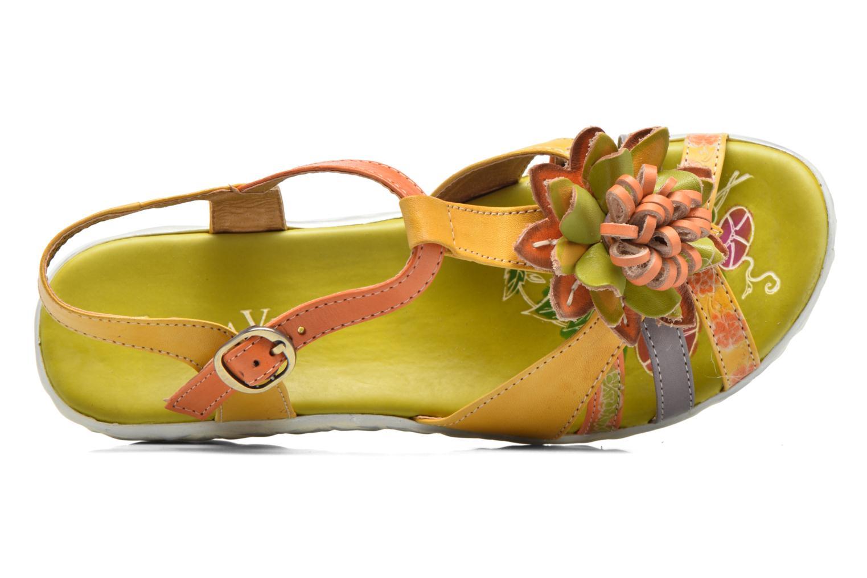 Sandales et nu-pieds Laura Vita Siecle Orange vue gauche