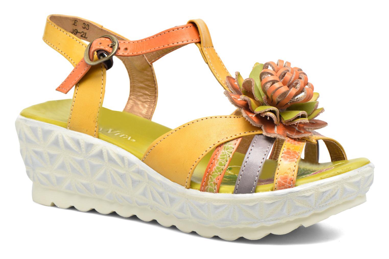 Sandales et nu-pieds Laura Vita Siecle Orange vue détail/paire