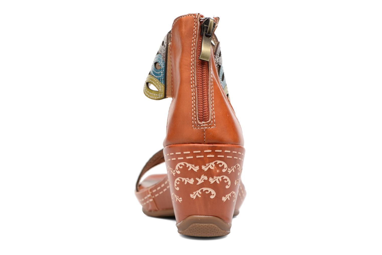 Sandales et nu-pieds Laura Vita Venise Marron vue droite