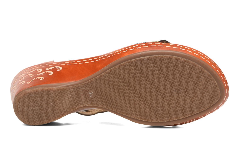 Sandales et nu-pieds Laura Vita Venise Marron vue haut