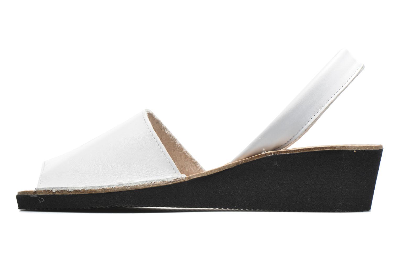 Sandales et nu-pieds Laura Vita Soft Blanc vue face