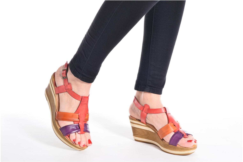 Sandales et nu-pieds Laura Vita Socio Multicolore vue bas / vue portée sac