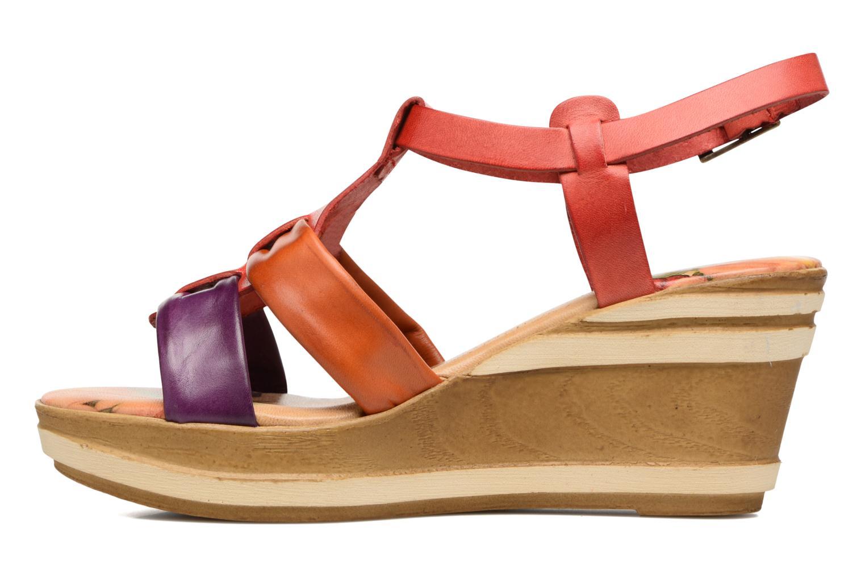 Sandales et nu-pieds Laura Vita Socio Multicolore vue face