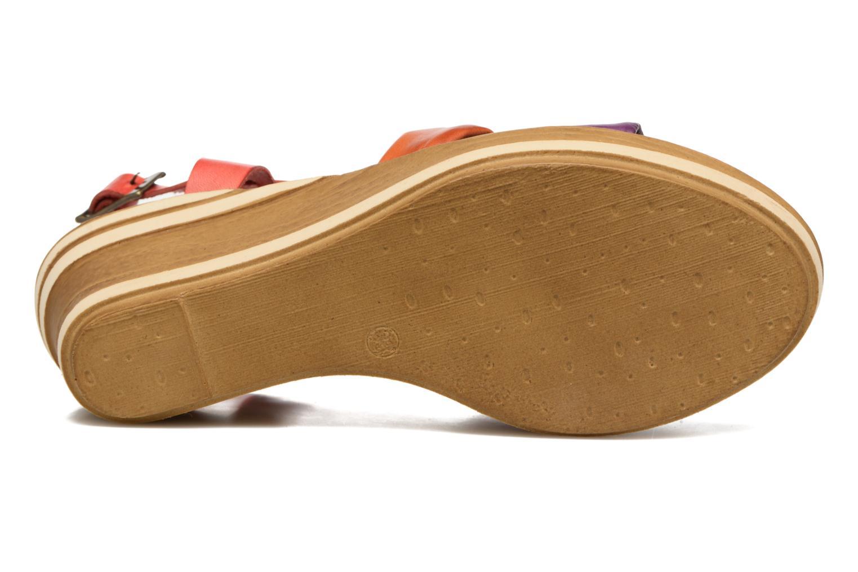 Sandales et nu-pieds Laura Vita Socio Multicolore vue haut