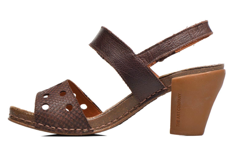 Sandales et nu-pieds Art I Feel 228 Marron vue face