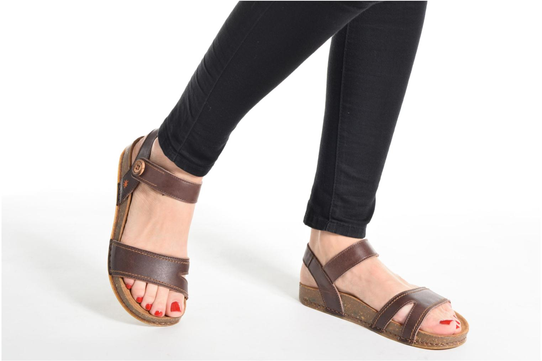 Sandales et nu-pieds Art We Walk 866 Noir vue bas / vue portée sac
