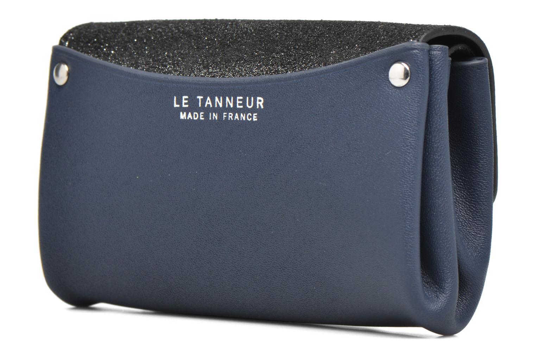 Petite Maroquinerie Le Tanneur Porte monnaie sans couture 3 soufflets Bleu vue droite