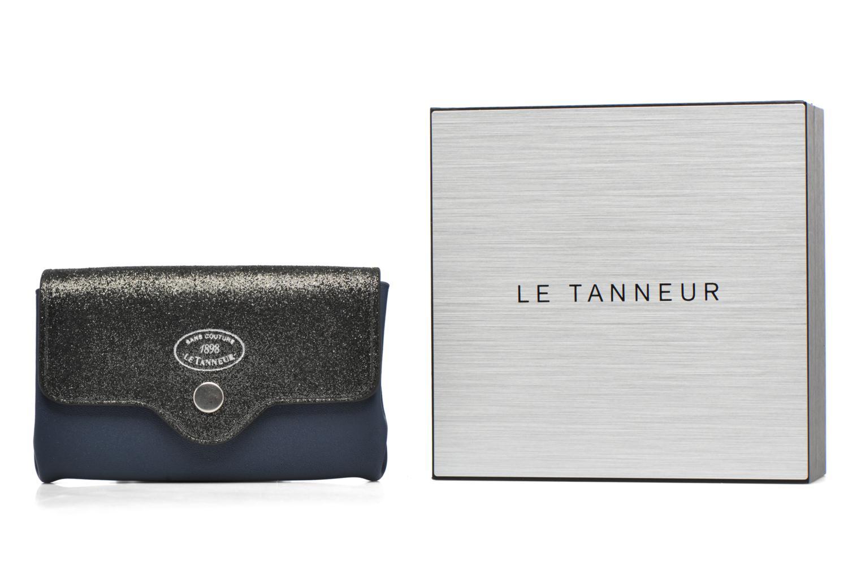 Petite Maroquinerie Le Tanneur Porte monnaie sans couture 3 soufflets Bleu vue détail/paire