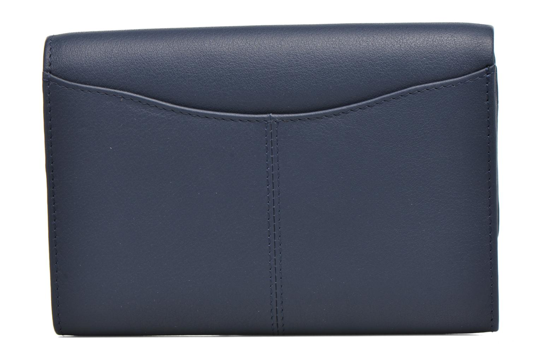 Porte monnaie Valentine rabat 4cc Bleu