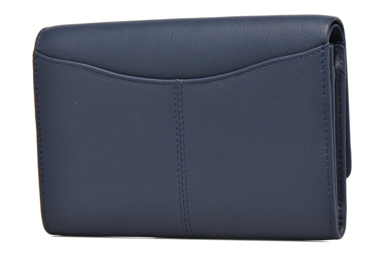 Petite Maroquinerie Le Tanneur Porte monnaie Valentine rabat 4cc Bleu vue droite