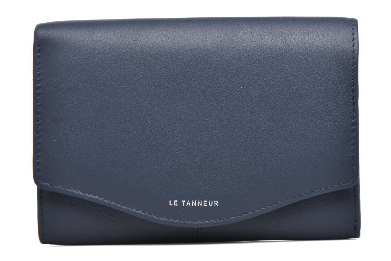 Petite Maroquinerie Le Tanneur Porte monnaie Valentine rabat 4cc Bleu vue gauche