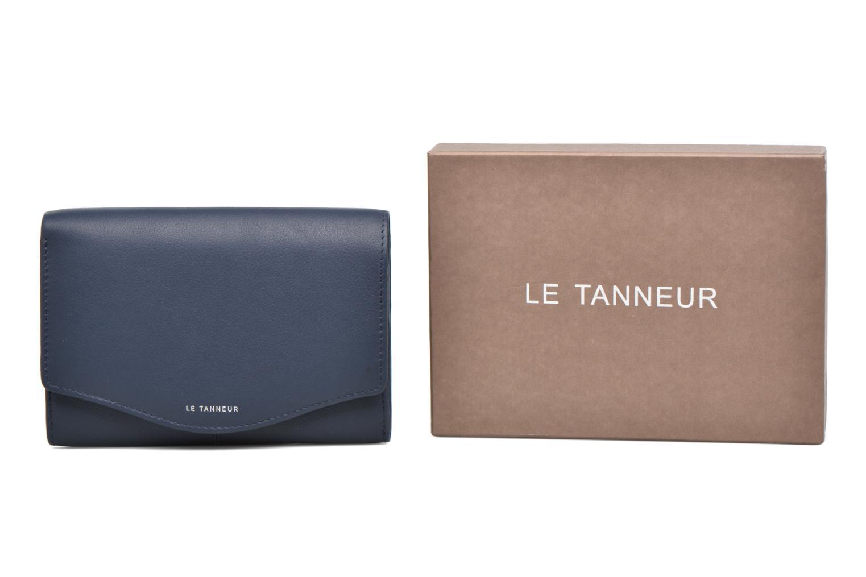 Petite Maroquinerie Le Tanneur Porte monnaie Valentine rabat 4cc Bleu vue détail/paire