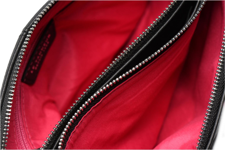 Sacs à main Le Tanneur Pochette double zippée Valentine Noir vue derrière