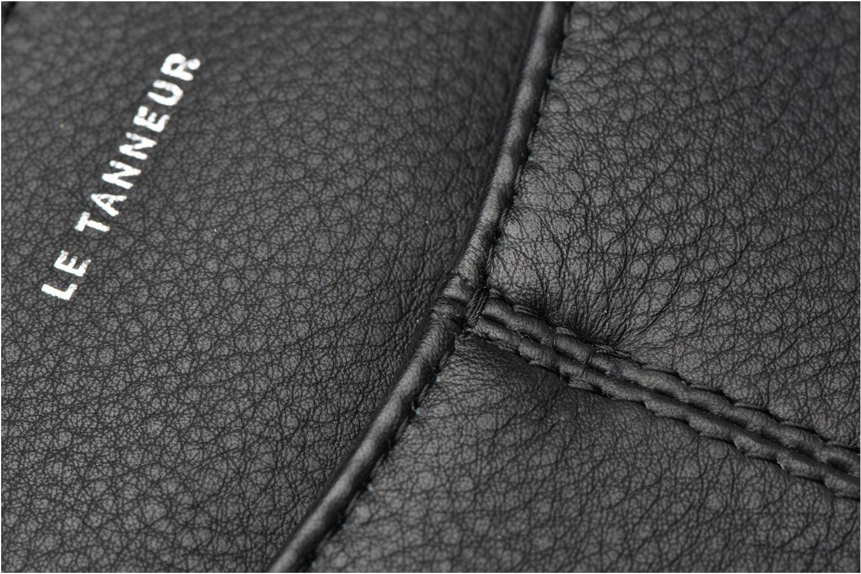 Sacs à main Le Tanneur Pochette double zippée Valentine Noir vue gauche