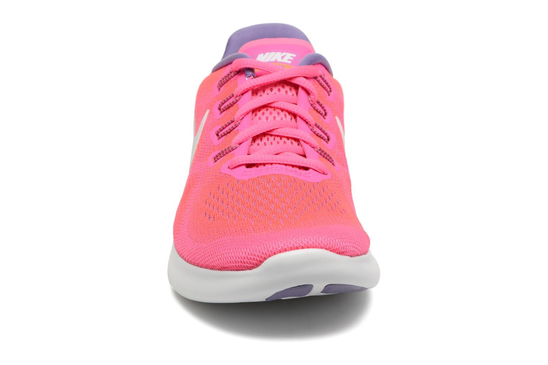 Chaussures de sport Nike Wmns Nike Free Rn 2017 Rose vue portées chaussures