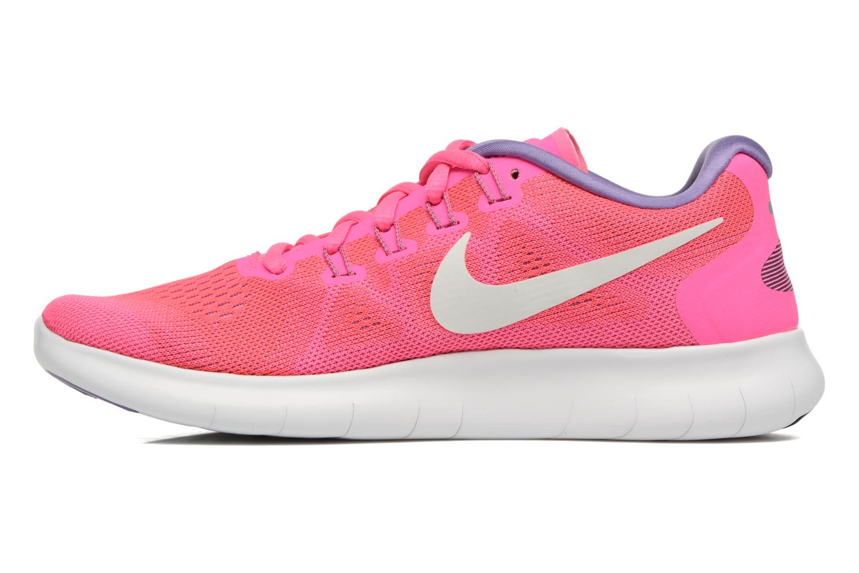 Chaussures de sport Nike Wmns Nike Free Rn 2017 Rose vue face