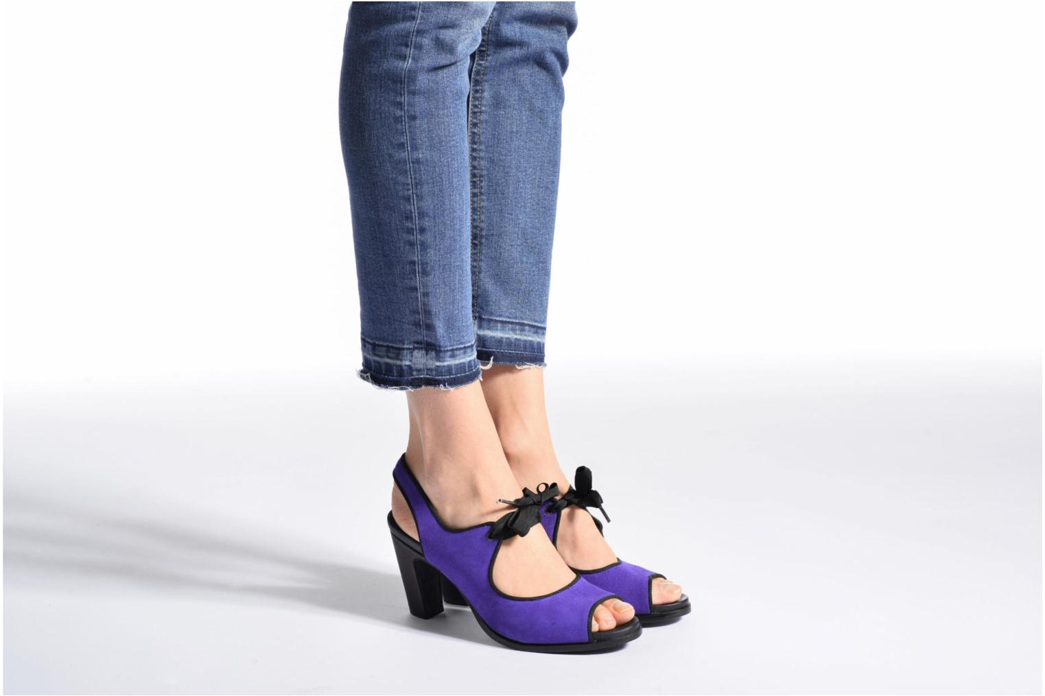 High heels Neosens Altesse S468 Purple view from underneath / model view
