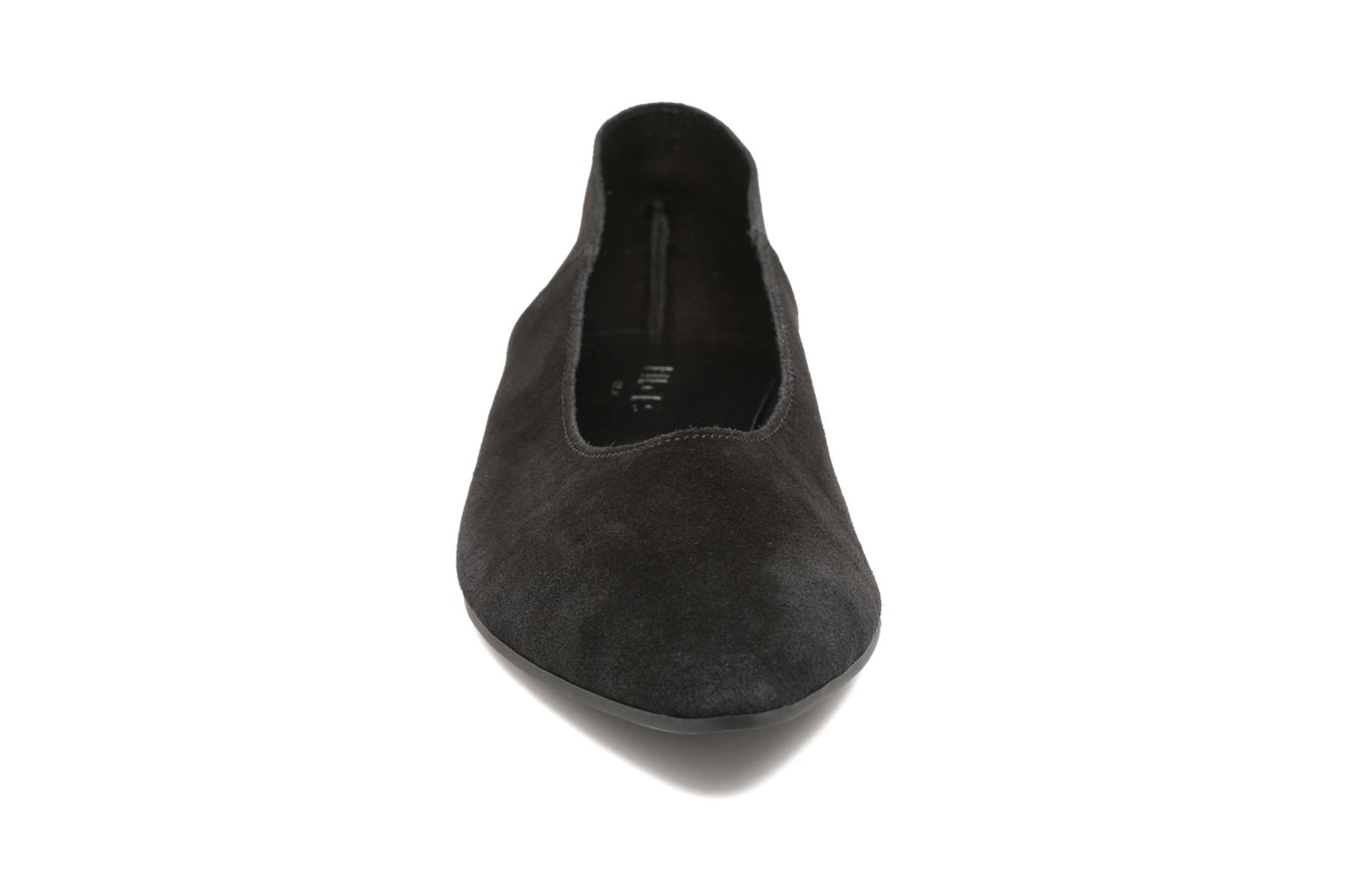 Ballet pumps Pieces Palentina Suede Ballarina Black Black model view