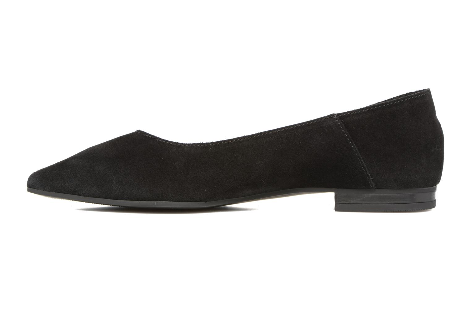 Ballet pumps Pieces Palentina Suede Ballarina Black Black front view