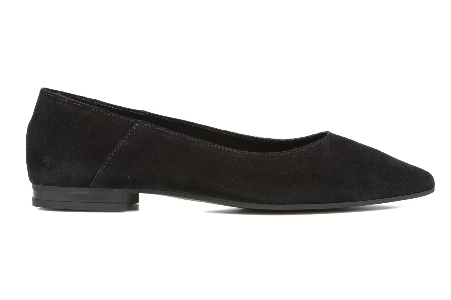 Ballet pumps Pieces Palentina Suede Ballarina Black Black back view