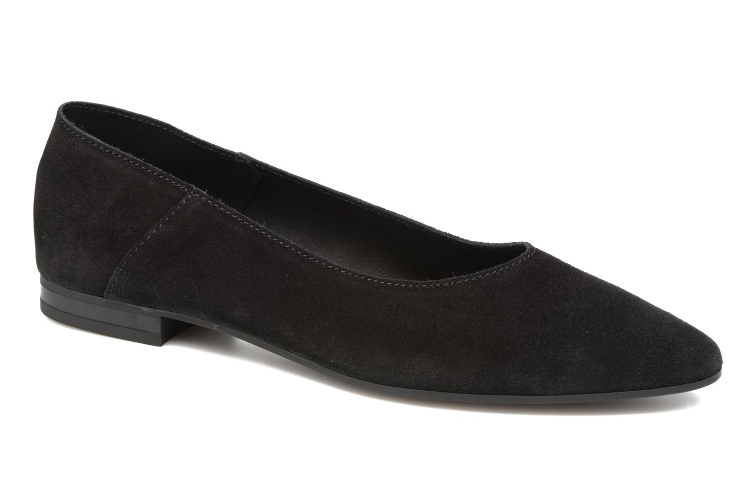 Ballet pumps Pieces Palentina Suede Ballarina Black Black detailed view/ Pair view