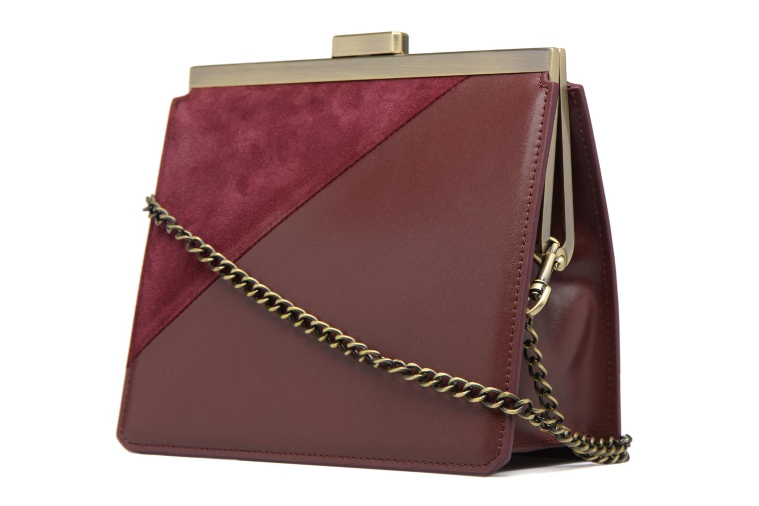 Handbags Tammy & Benjamin Crossbody Jeanne Burgundy view from the right