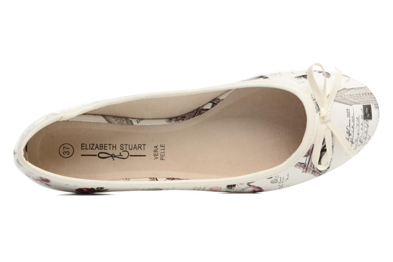 Ballerines Elizabeth Stuart Castel 850 Blanc vue gauche
