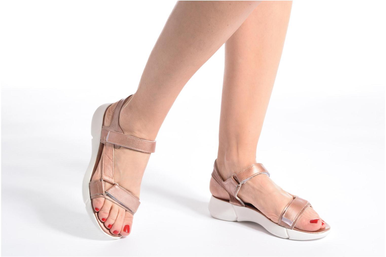 Sandales et nu-pieds Elizabeth Stuart Titien 391 Rose vue bas / vue portée sac