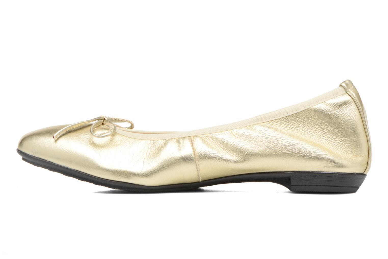 Ballet pumps Elizabeth Stuart Yonis 278 Bronze and Gold front view