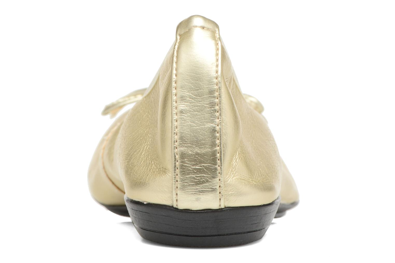 Ballet pumps Elizabeth Stuart Yonis 278 Bronze and Gold view from the right