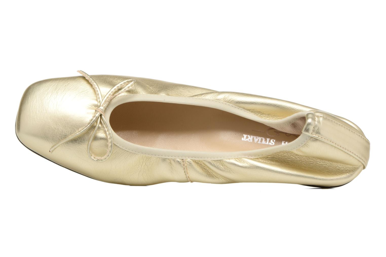 Ballet pumps Elizabeth Stuart Yonis 278 Bronze and Gold view from the left
