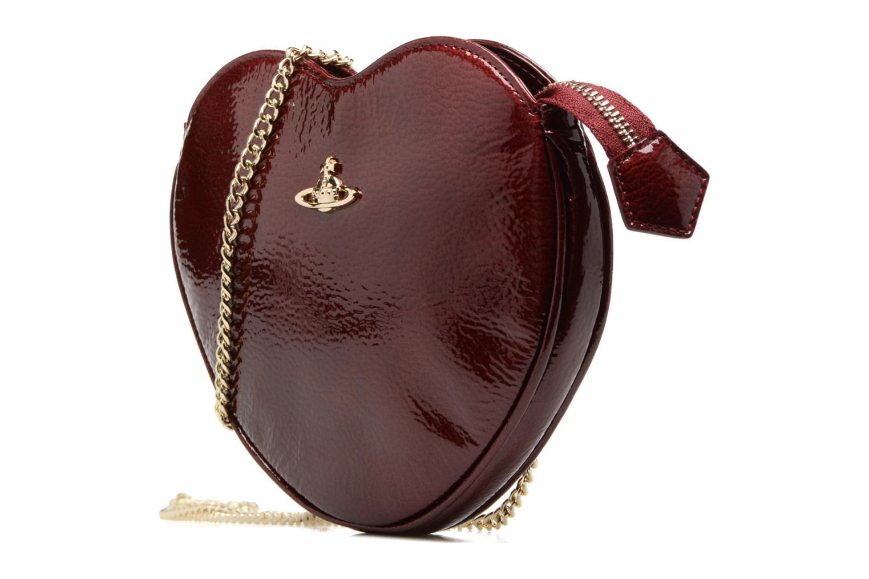 Sacs pochettes Vivienne Westwood Crossbody Cœur Margate Bordeaux vue portées chaussures