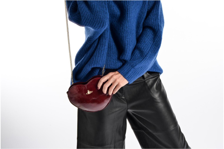 Sacs pochettes Vivienne Westwood Crossbody Cœur Margate Bordeaux vue haut
