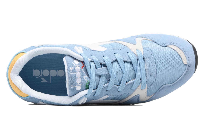 Sneaker Diadora V7000 NYL II blau ansicht von links