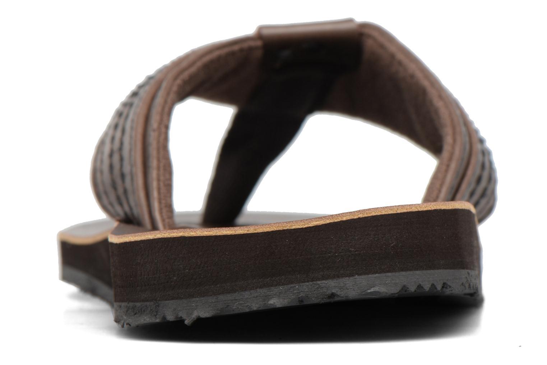 Infradito Jack & Jones Bob leather sandal Marrone immagine destra