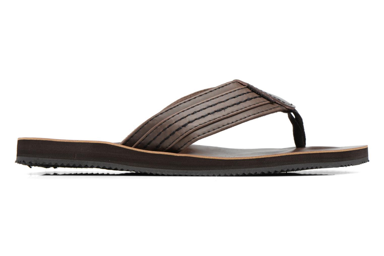 Tongs Jack & Jones Bob leather sandal Marron vue derrière