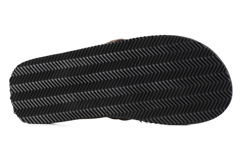 Infradito Jack & Jones Bob leather sandal Marrone immagine dall'alto