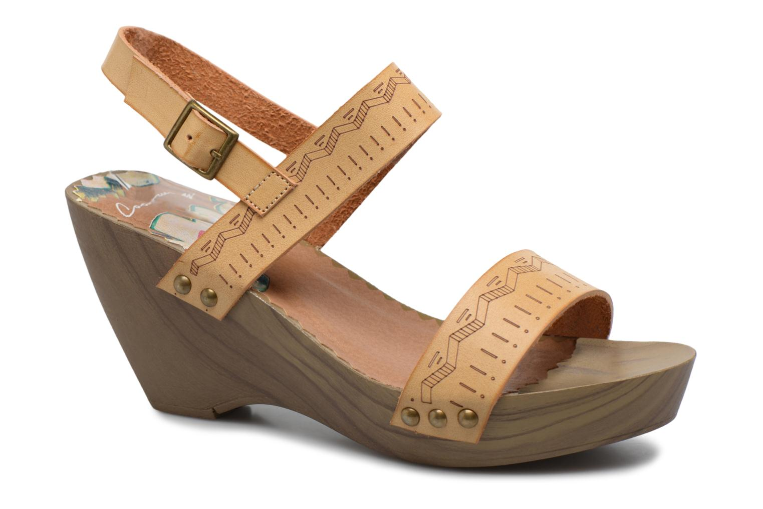 Sandals Coolway Caiman Beige detailed view/ Pair view